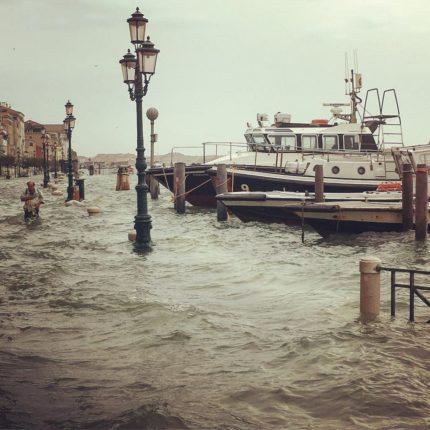 Ancora acqua alta a Venezia