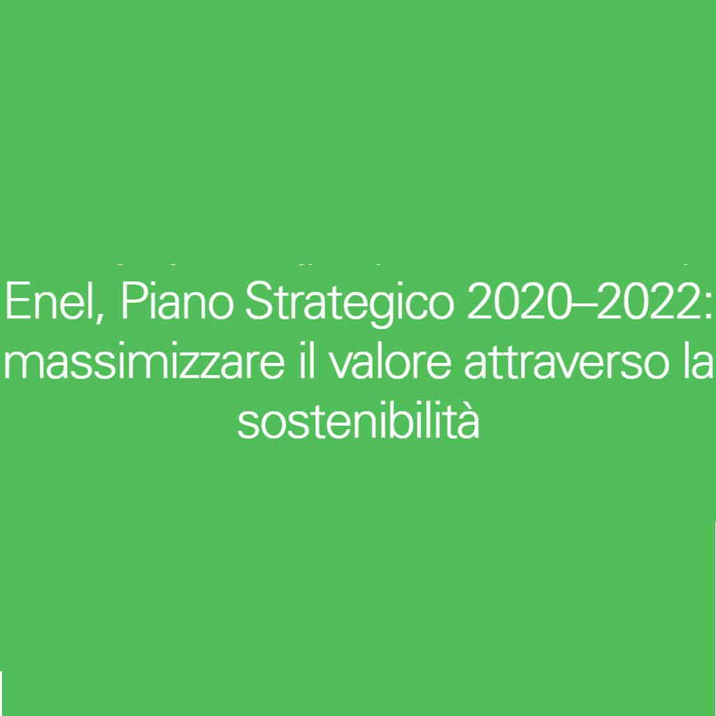 Piano strategico Enel 2020
