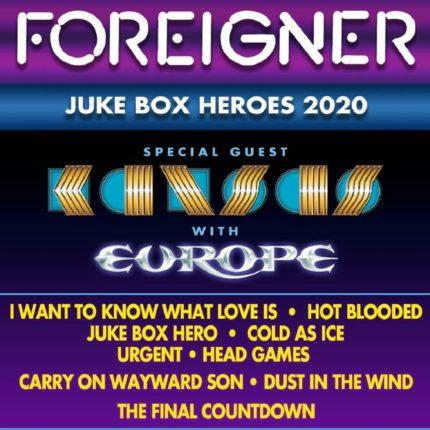 Foreigner – Kansas – Europe tour insieme in Nord America locandina