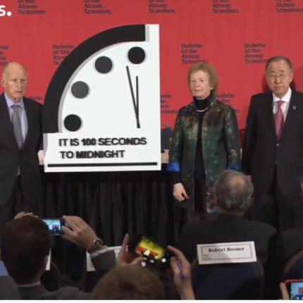 Orologio dell'Apocalisse, 100 secondi alla fine di tutto