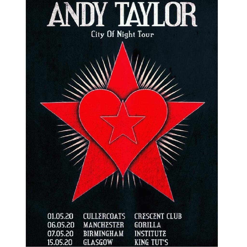 Andy Taylor tour locandina