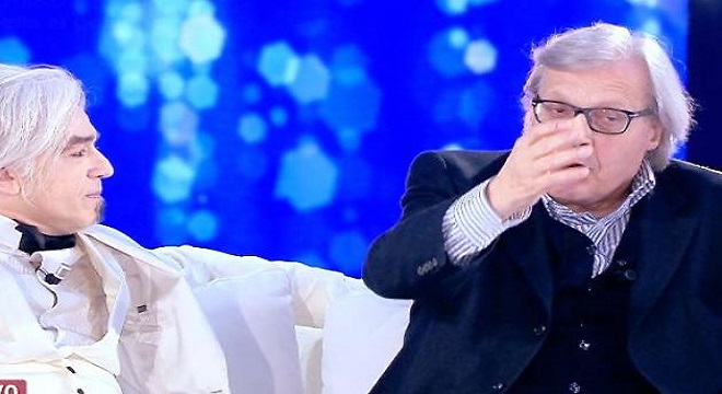 """Live Non è la D'urso, Sgarbi: """"Bugo sembra un cocainomane"""""""