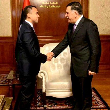 Di Maio in visita a Tripoli