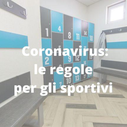 Gli sportivi e il Coronavirus