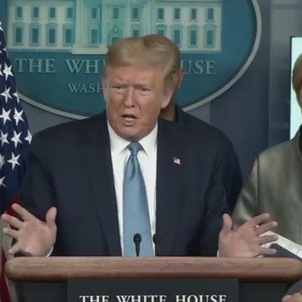 Donald Trump il coronavirus è un nemico invisibile foto