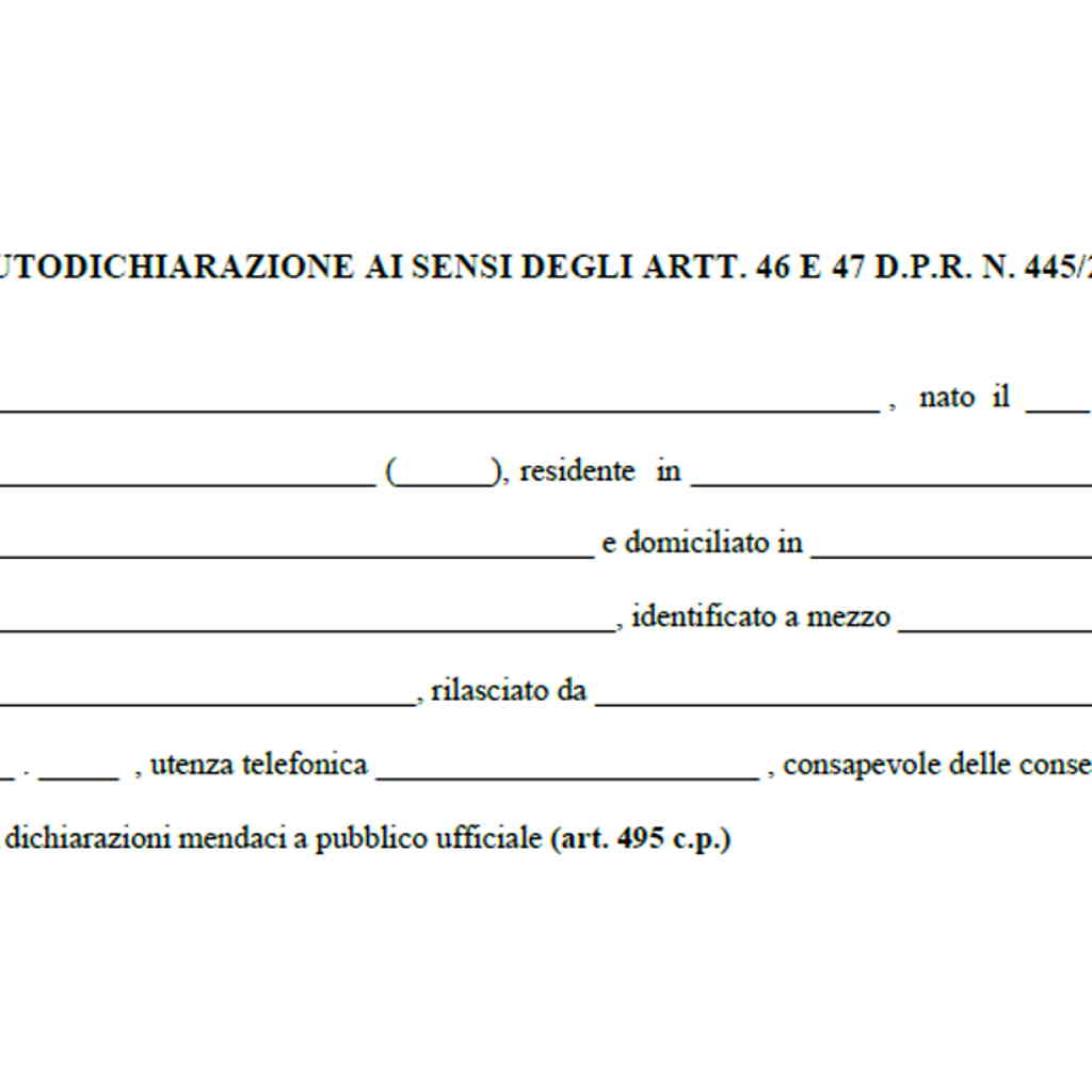 Autocertificazione fase 2 Nuovo modulo autocertificazione 26 marzo 2020 pdf