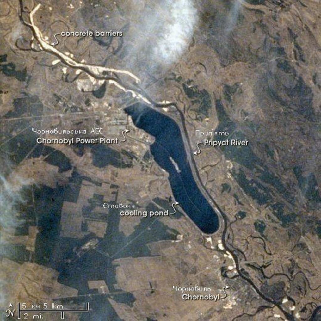 Un incendio sta devastando il bosco di Chernobyl foto