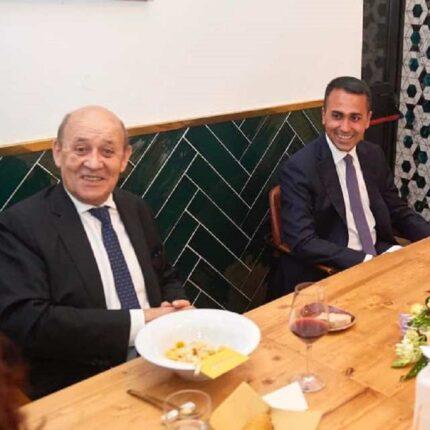 Di Maio incontra il ministro francese Le Drian