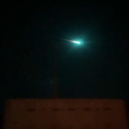 Frame del video della meteora australiana