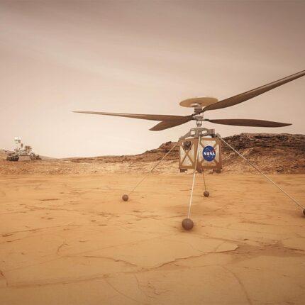 L'elicottero marziano pronto al decollo