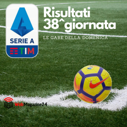38^ giornata Serie A, tutti i risultati della domenica