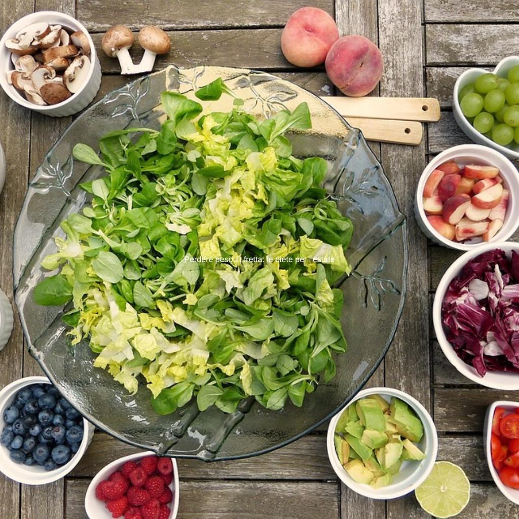 Perdere peso in fretta: le diete per l'estate