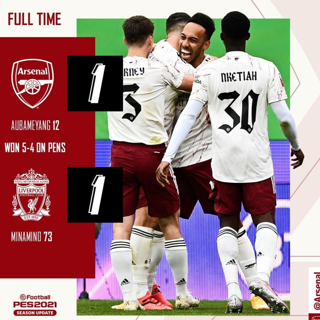 L'Arsenal vince il Community Shield