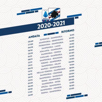 Calendario Sampdoria 2020-2021