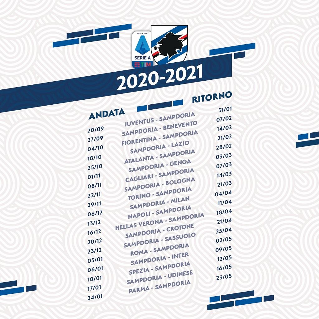 Calendario partite Sampdoria 2020 2021: partenza da incubo ~