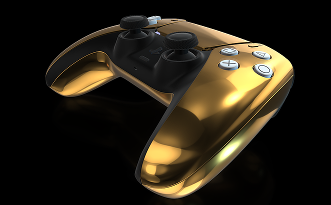 Controller PS5 in oro 24 carati