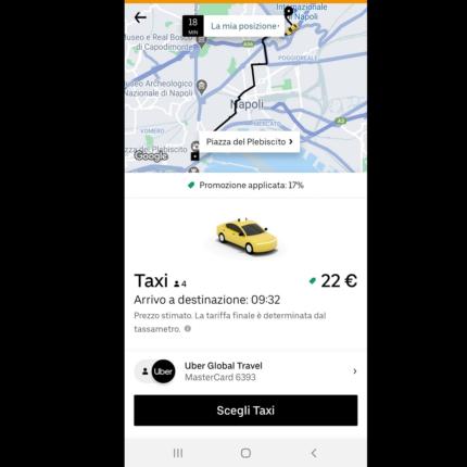 Uber Taxi arriva a Napoli: cos'è e come funziona?