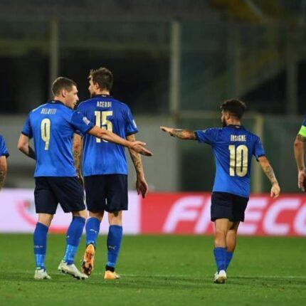 La Nazionale azzurra a Bergamo