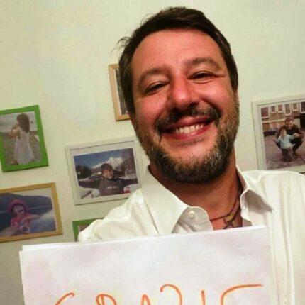 Salvini commenta l'esito delle elezioni
