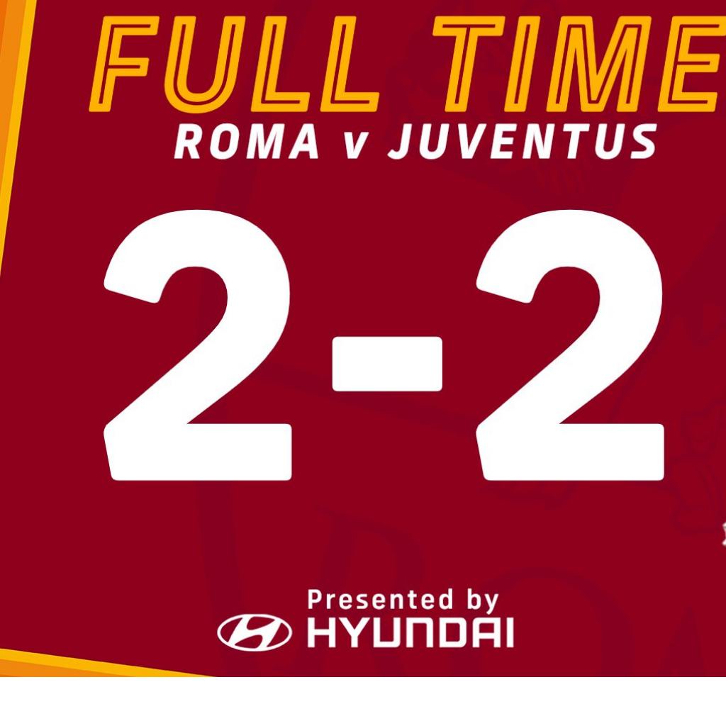 La Roma pareggia contro la Juventus