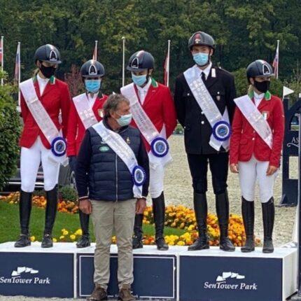 Equitazione italiana sul podio