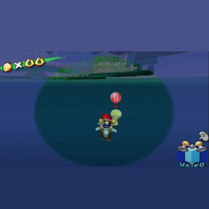 Super Mario Sunshine: c'è un Toad sotto la mappa da solo