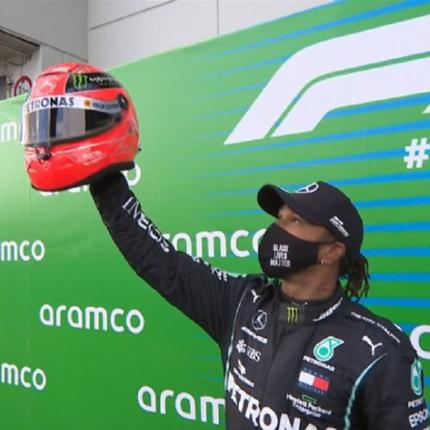 Hamilton e il casco di Michael Schumacher: ne aveva già uno