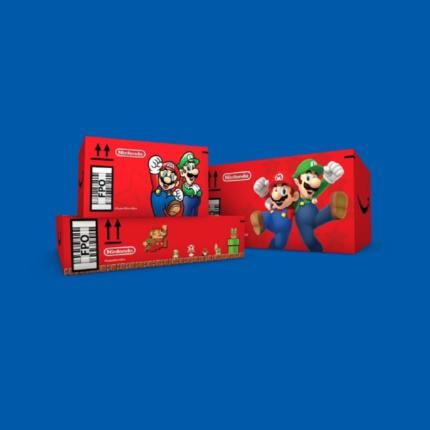 Pacchi Amazon a tema Super Mario per chi acquista qualsiasi cosa