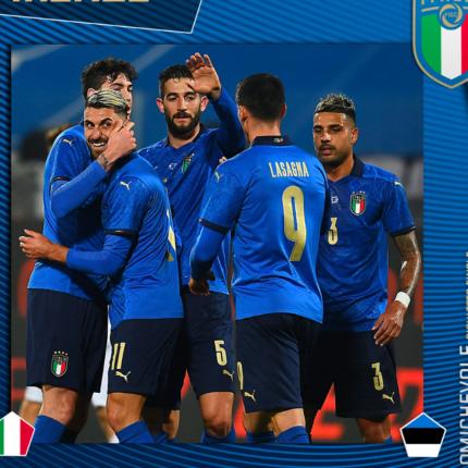 L'Italia vince contro l'Estonia