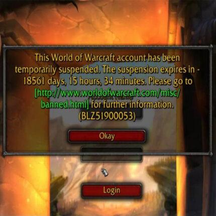 World of Warcraft: avviso del Bug di 18561 giorni