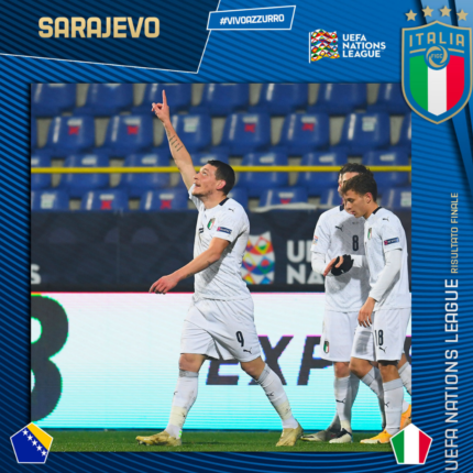 L'Italia vince contro la Bosnia