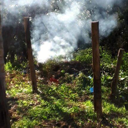 Plastica bruciata a Salerno