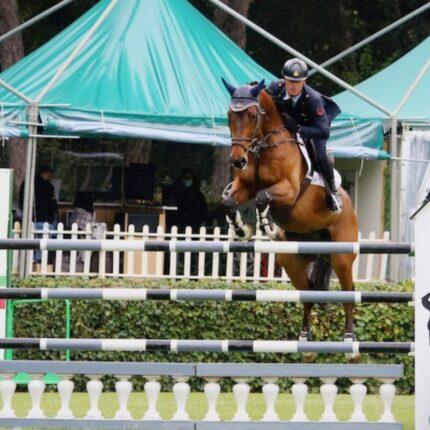 Il campione italiano salto a ostacoli