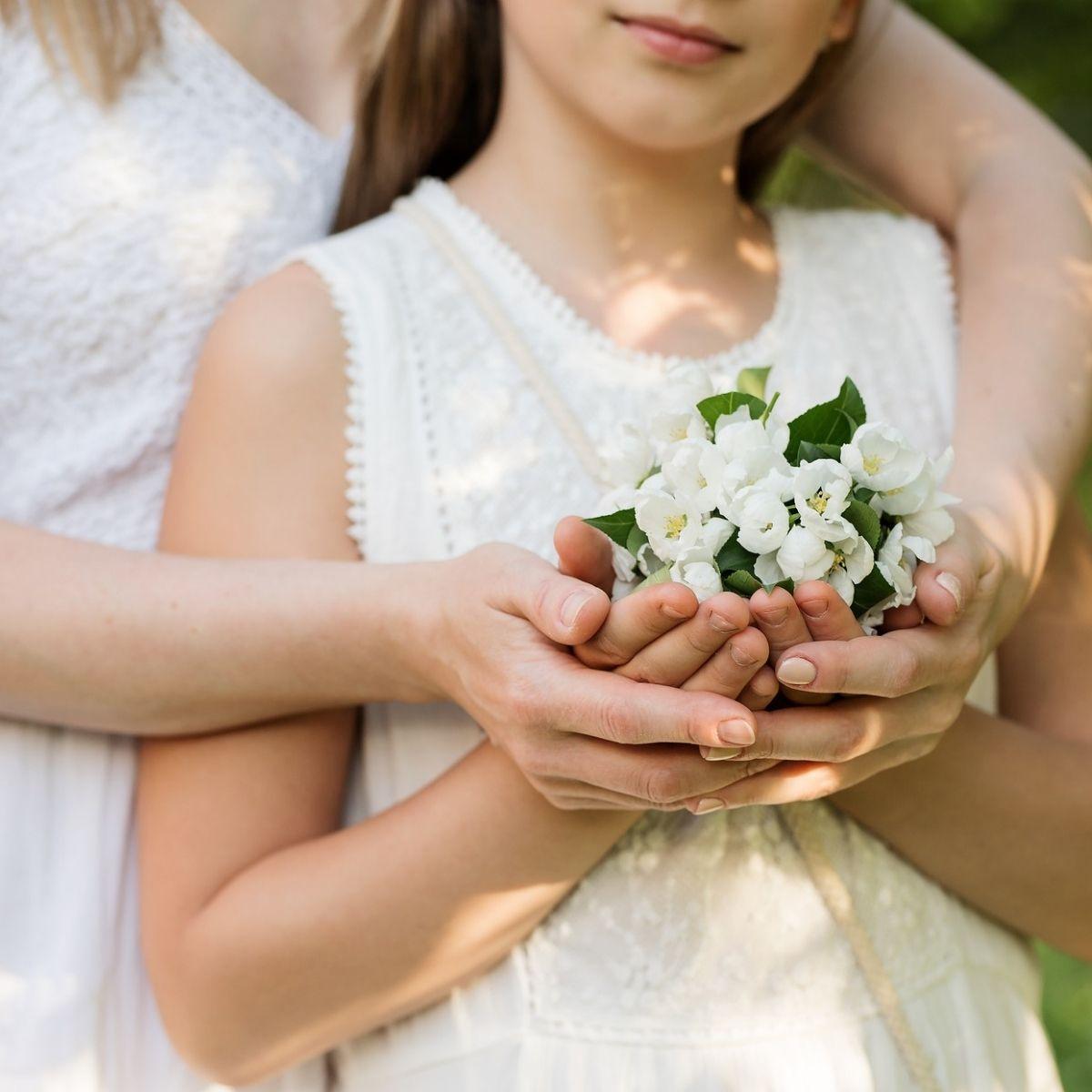 Festa della mamma con un fiore
