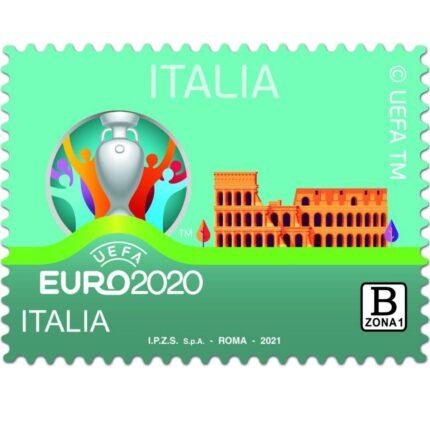 Il francobollo di Euro 2020