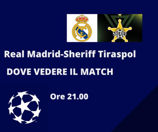 Real Madrid-Sheriff Tiraspol, streaming gratis e diretta tv in chiaro Canale 20? Dove vedere il match